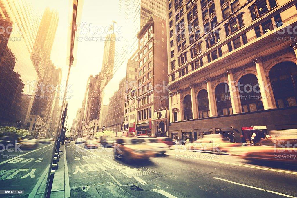 Streets of New York City royalty-free stock photo