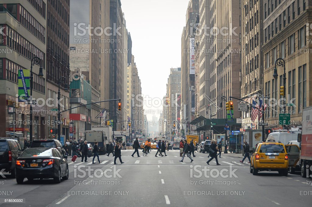 Streets of New York City stock photo