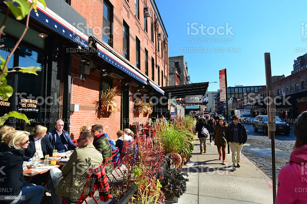 streets of New York in Autumn stock photo
