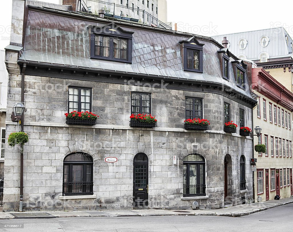 Streets of Old Quebec City royalty-free stock photo