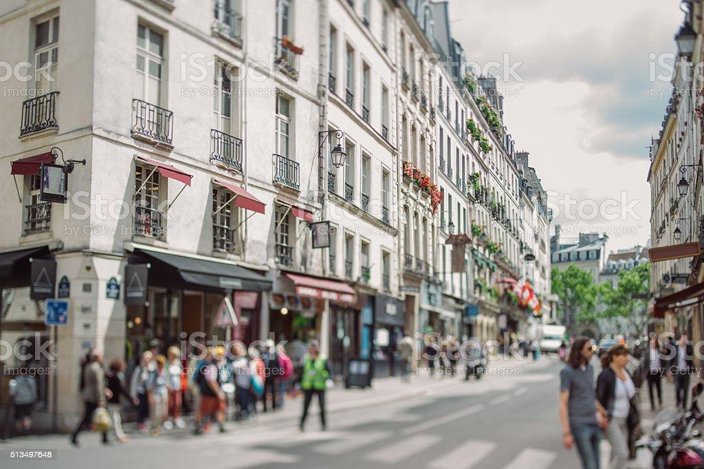 Streets of Paris royalty-free stock photo