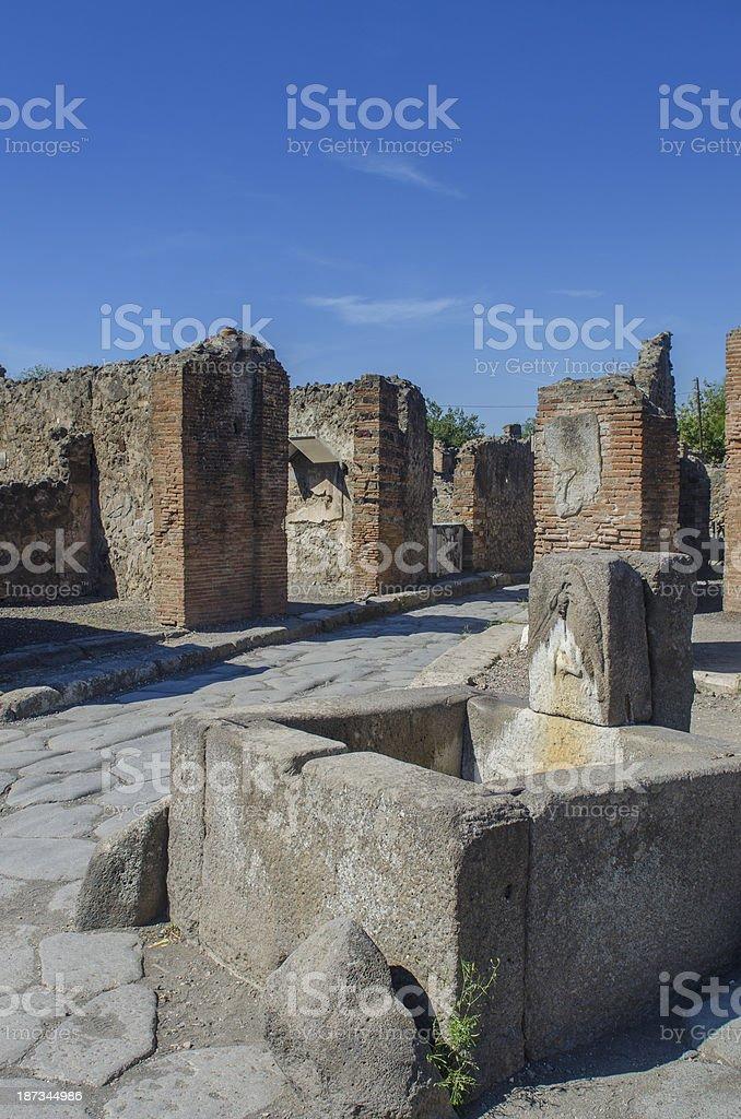 Streets of Pompeii royalty-free stock photo