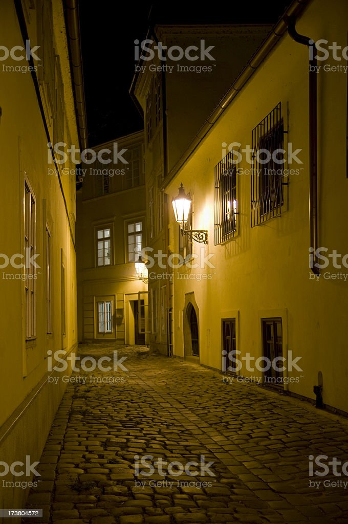 Streets of Prague royalty-free stock photo