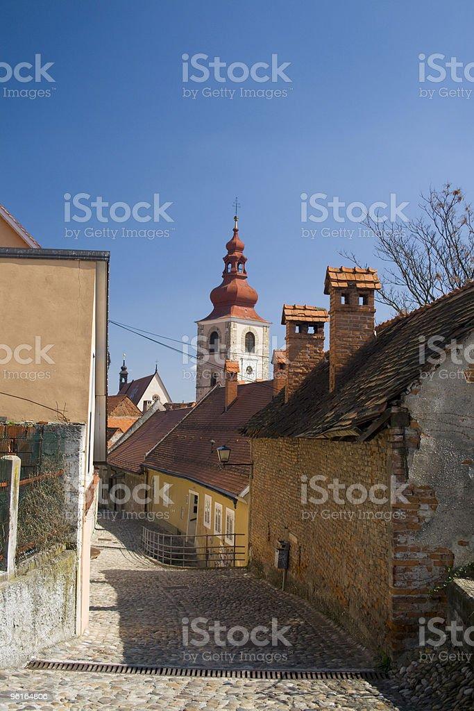 Streets of Ptuj stock photo
