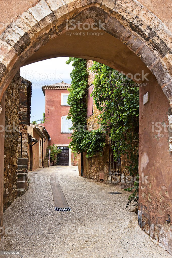 Streets of Rossillon royalty-free stock photo