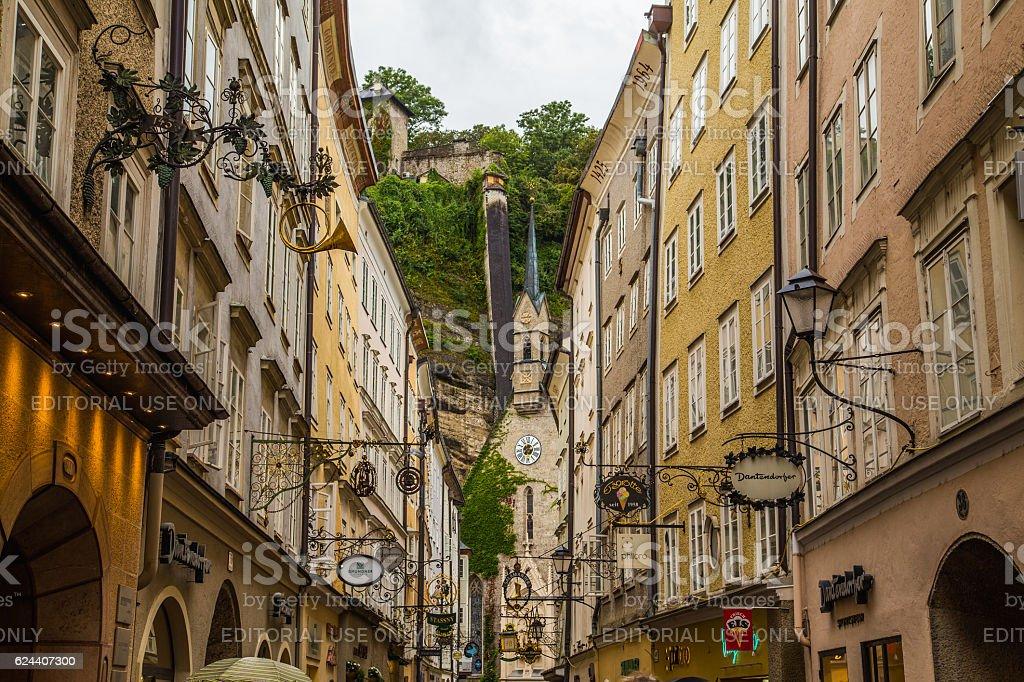 Streets of Salzburg stock photo