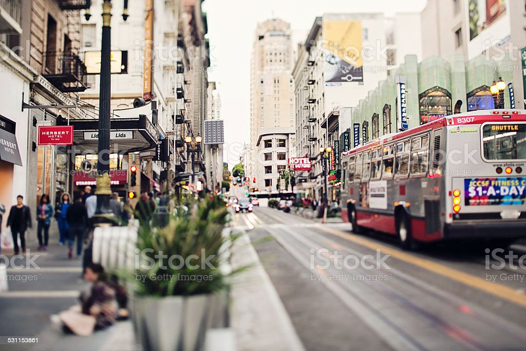 Streets of San Francisco stock photo