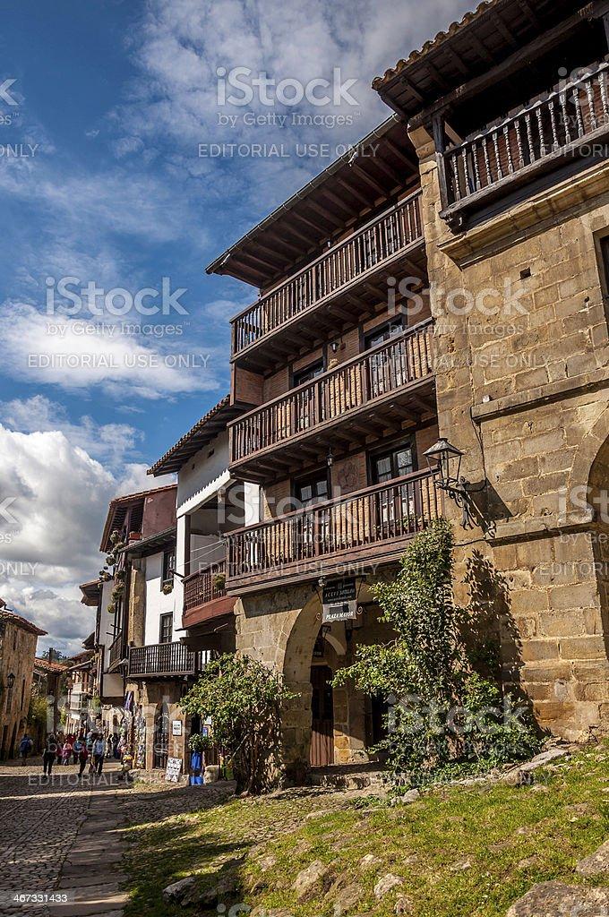 Streets of Santillana del Mar stock photo