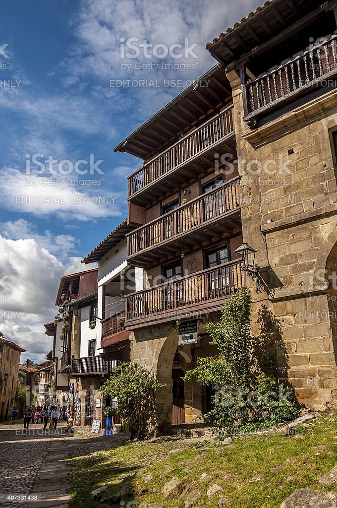 Streets of Santillana del Mar stock photo