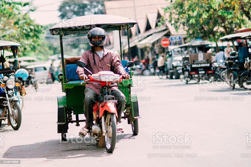 Streets of Siem Reap stock photo