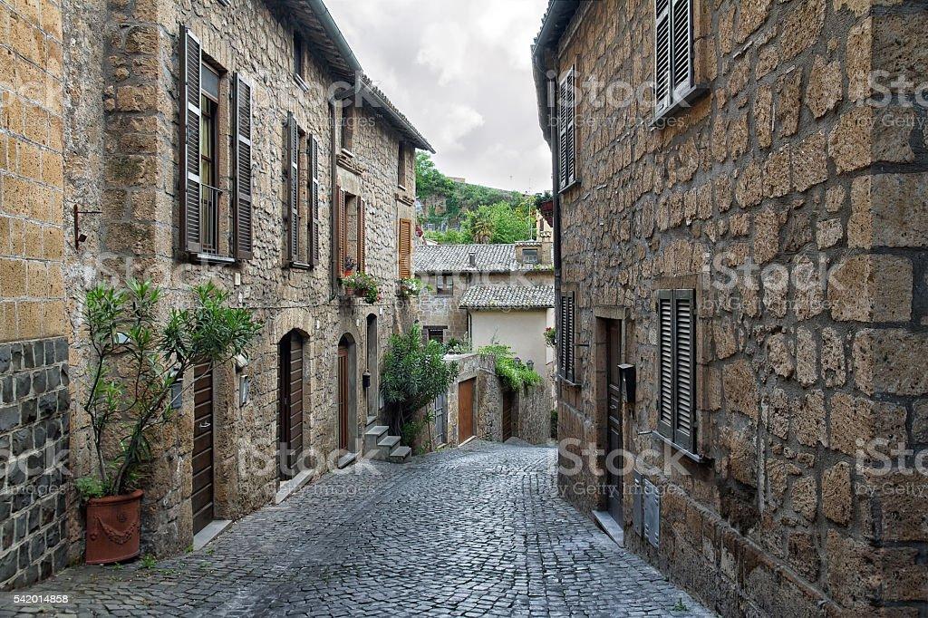Streets of the city Orvieto, Italy, Toscana stock photo