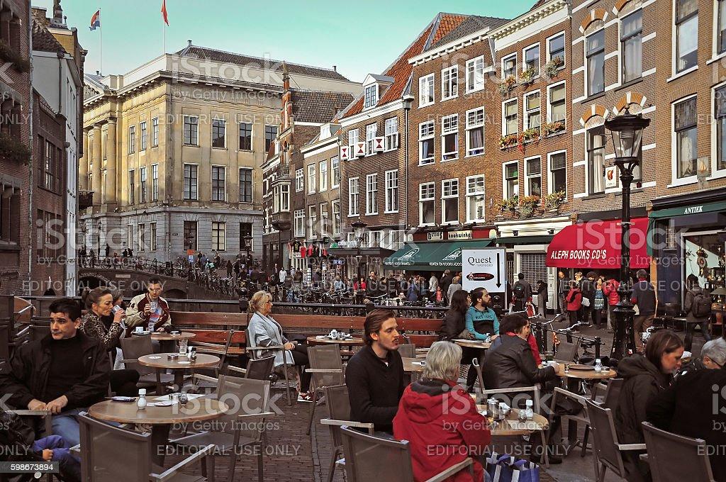Streets of Utrecht stock photo