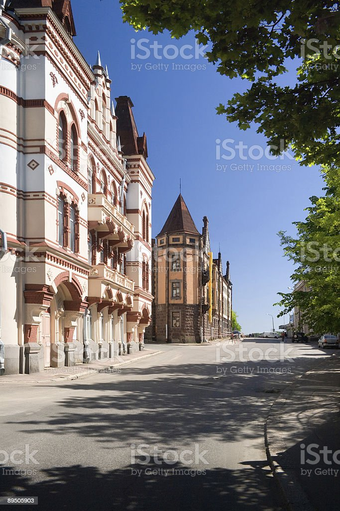 Streets of Vyborg royalty-free stock photo