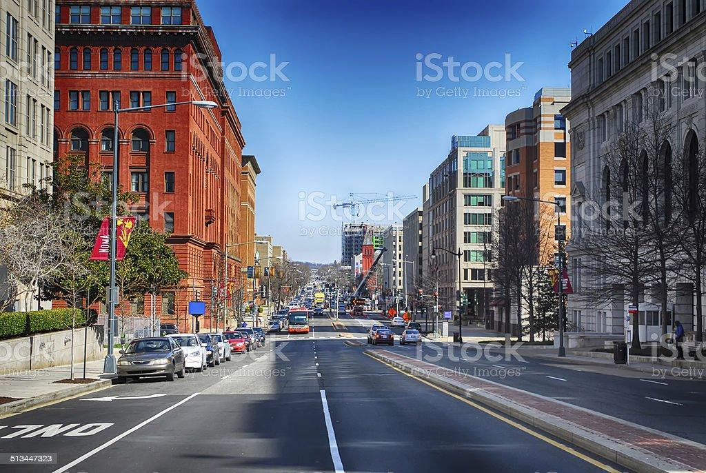 streets of washington dc stock photo
