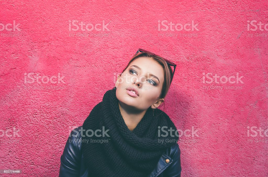 Street's portraits of teenager stock photo
