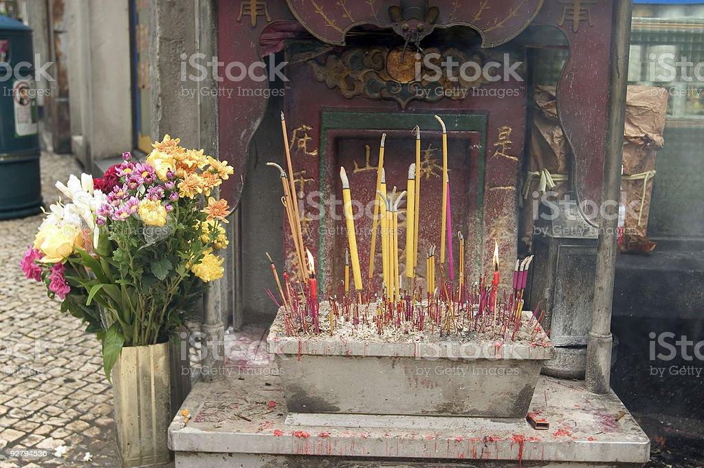 Streetside altar royalty-free stock photo