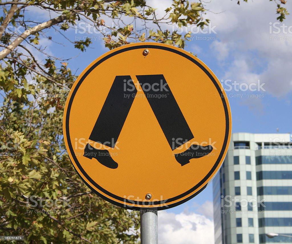 Streetsign: crossing royalty-free stock photo