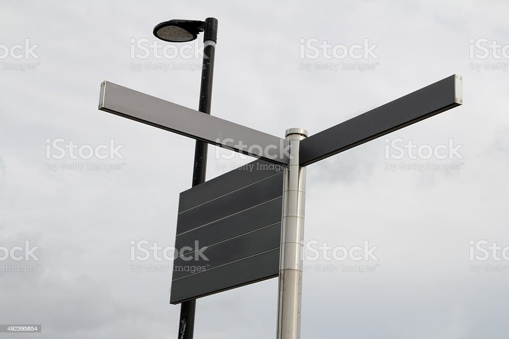 streetsigns without text stock photo
