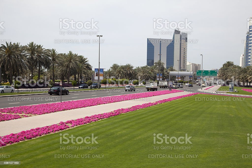 streetview at Dubai royalty-free stock photo