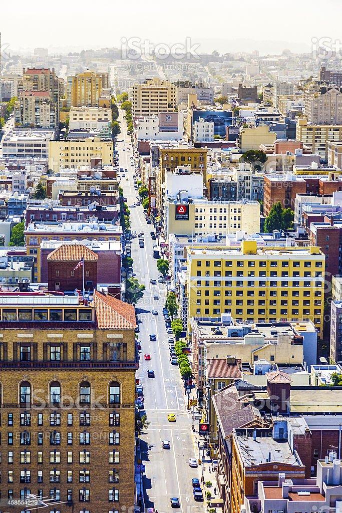 streetview in San Francisco royalty-free stock photo
