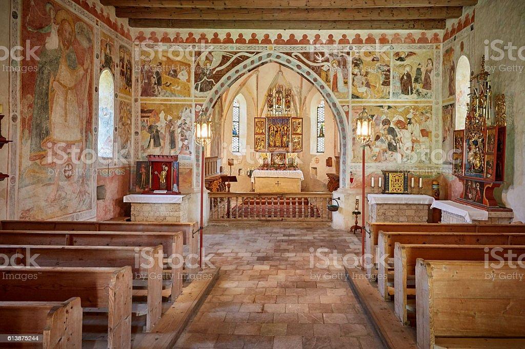 Streichenkirche Innen stock photo