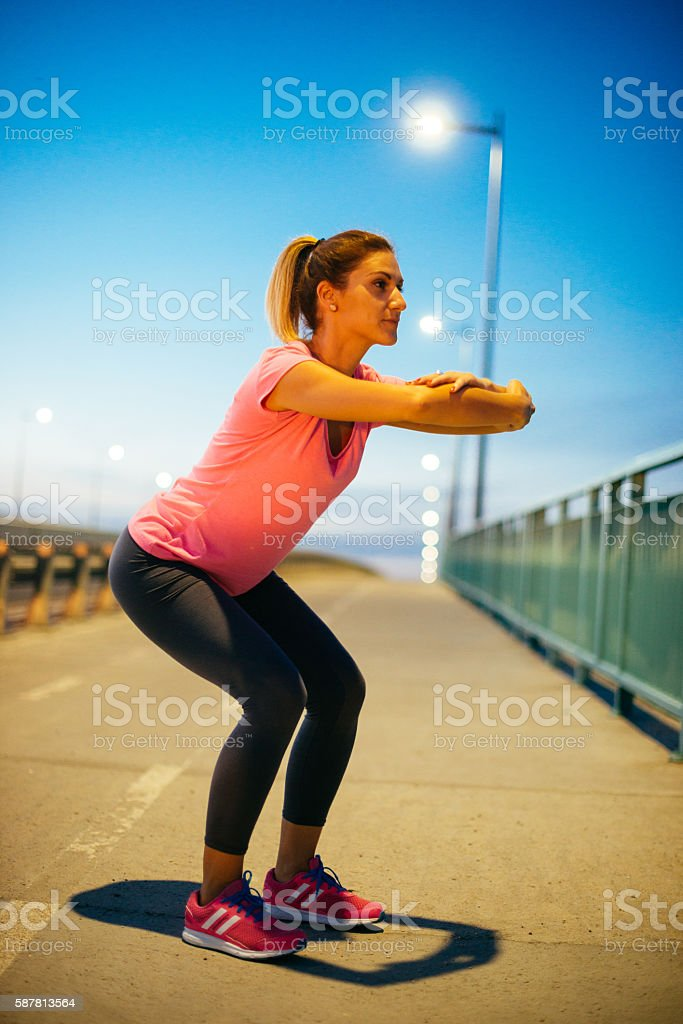 Strenghtening legs and buttocks stock photo