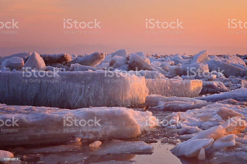 Strength and power of the Amur river stock photo