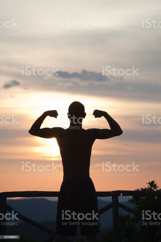 strength at sunrise royalty-free stock photo