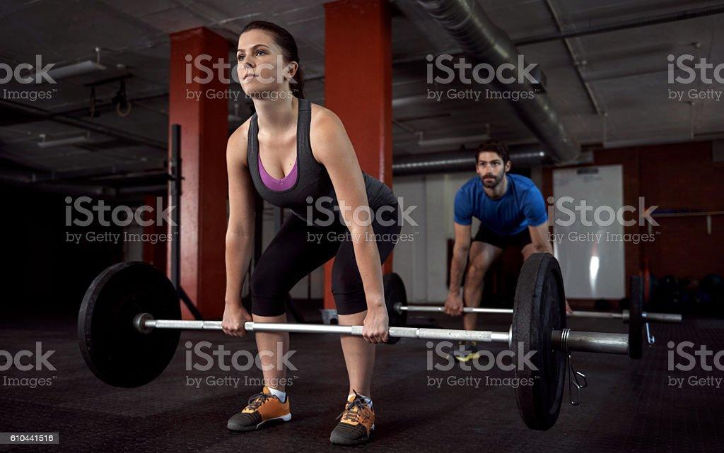 Strength doesn't happen overnight stock photo