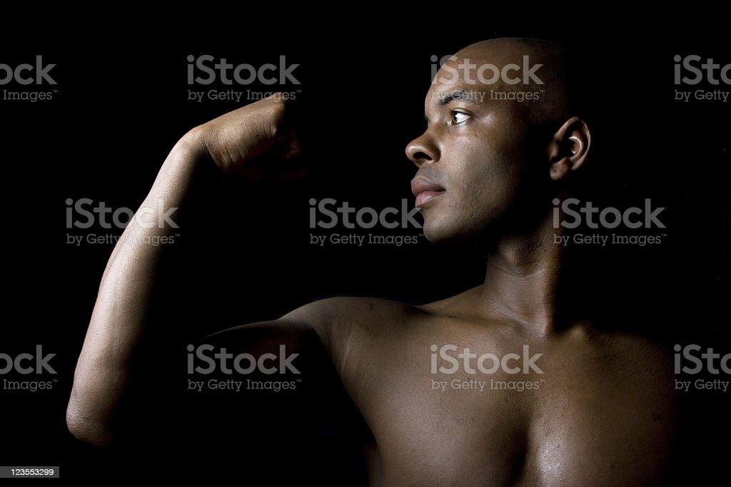 Strength in arms stock photo