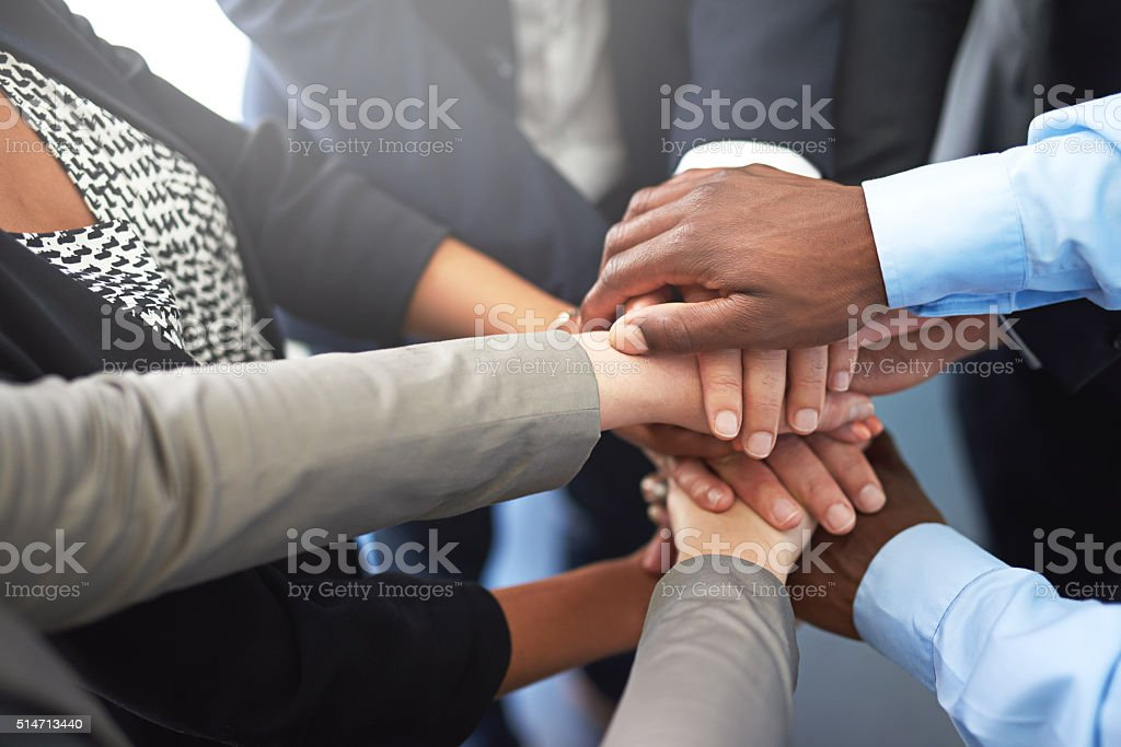 Strength in unity stock photo