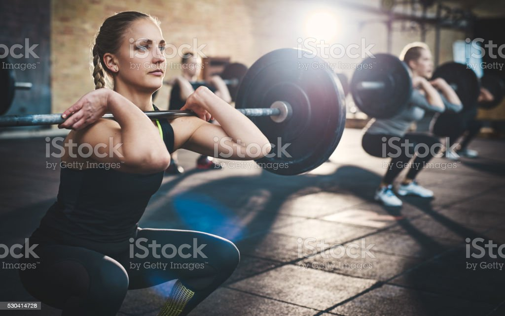 Strength is measured in weight and character stock photo