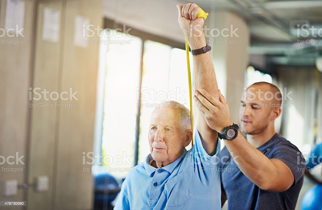 Strength never gets old stock photo
