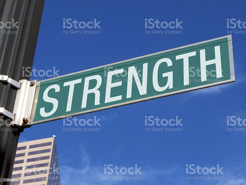 Strength Road Sign royalty-free stock photo