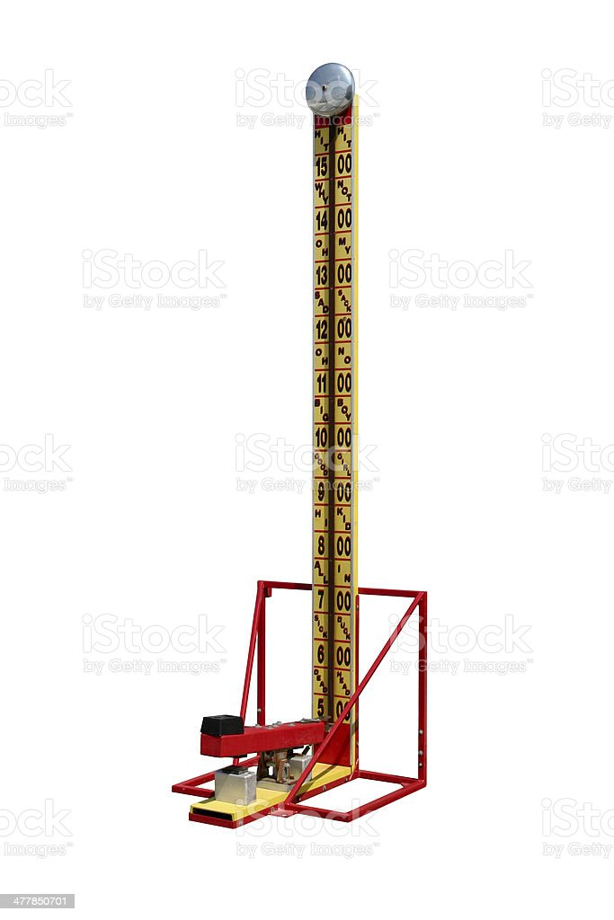 Strength Tester Fairground Game stock photo