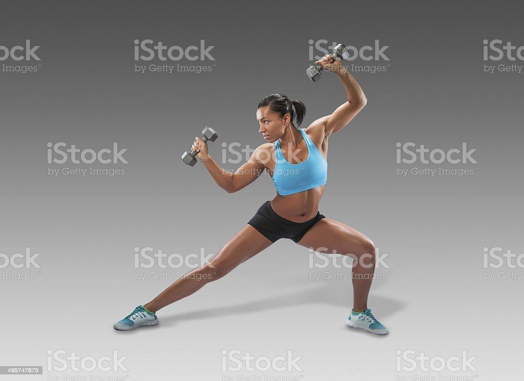 Strength Training Exercises royalty-free stock photo