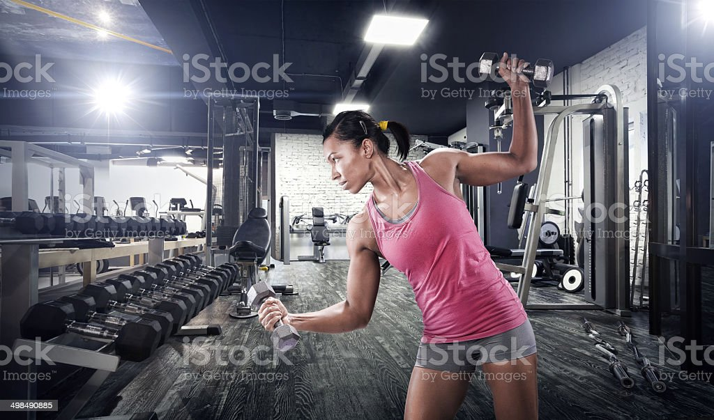 Strength Training Exercises stock photo