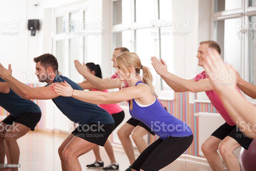 Strengthening bottom muscles stock photo