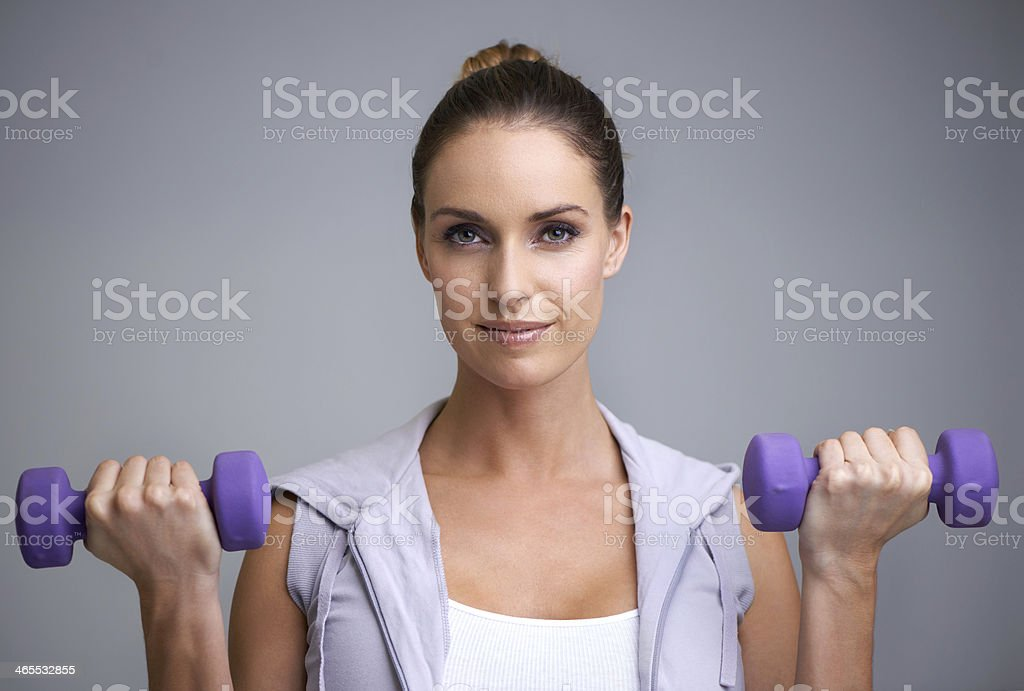Strengthening her core royalty-free stock photo