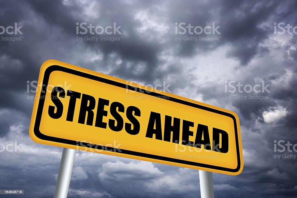 Stress ahead sign royalty-free stock photo
