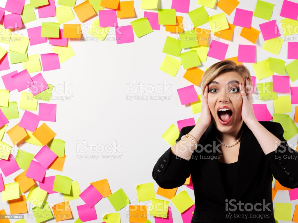 Stress and a Business Women stock photo