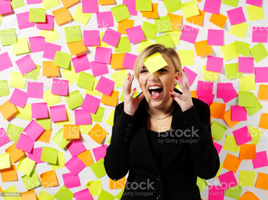 Stress and a Business Women royalty-free stock photo