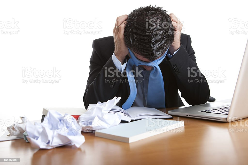stress and work royalty-free stock photo