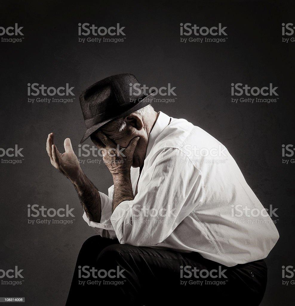 stress and worried senior stock photo
