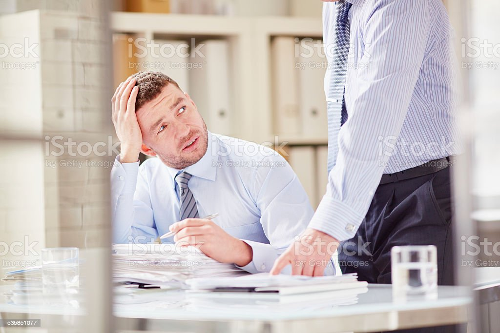 Stress at work stock photo