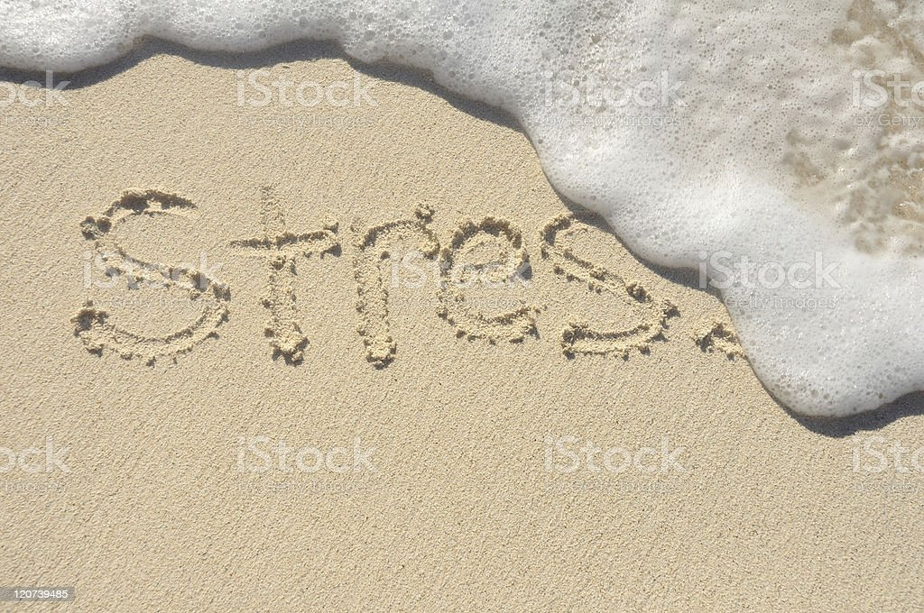 Stress Being Washed Away stock photo