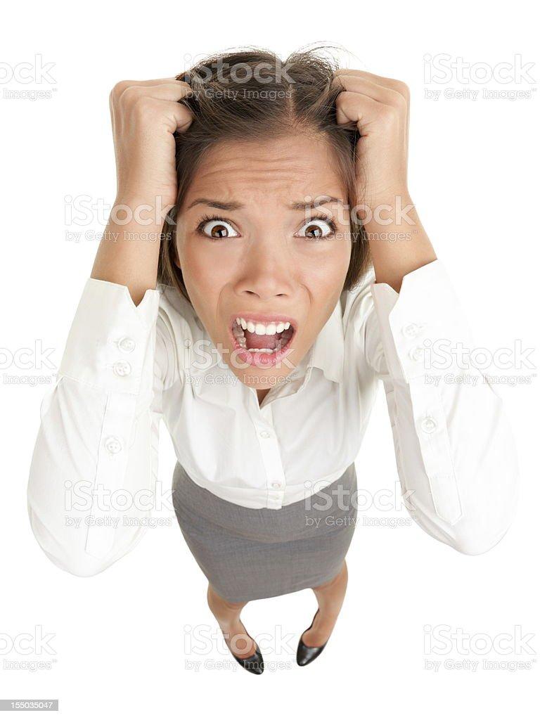 Stress business woman stock photo