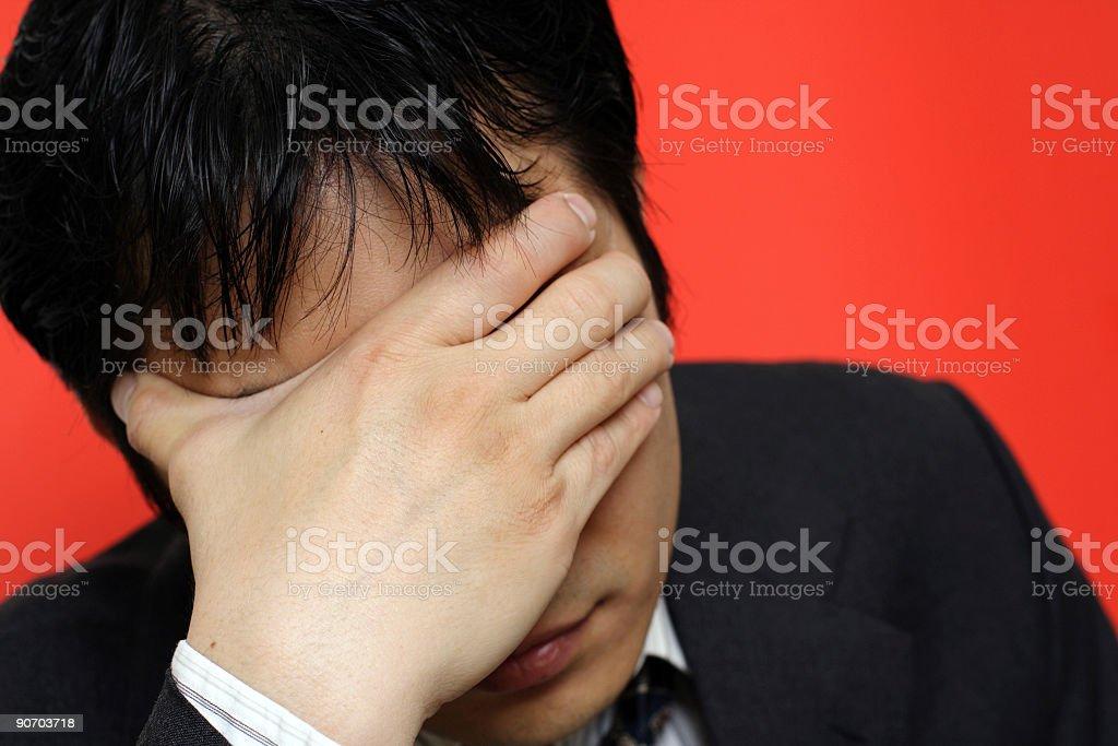 Stress businessman royalty-free stock photo