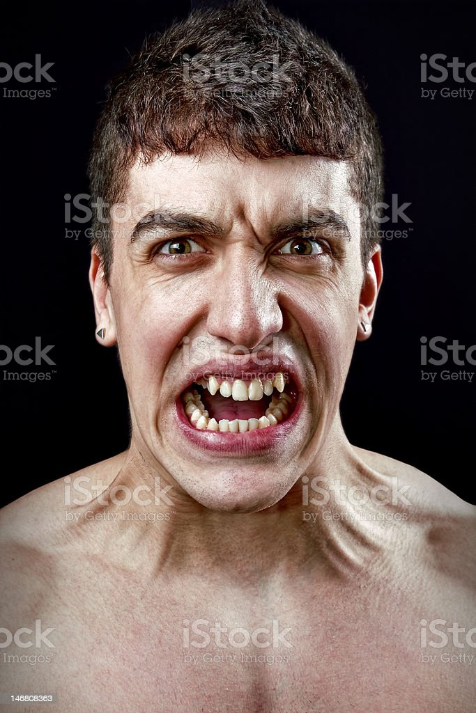 Stress concept - angry furious mad man royalty-free stock photo