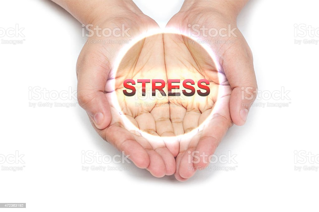 Stress everywhere! stock photo